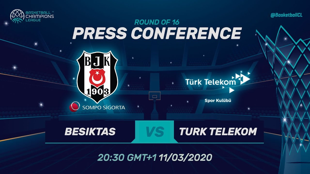 Besiktas Sompo Sigorta v Türk Telekom - PC - RD 16 - Basketball Champions League 2019