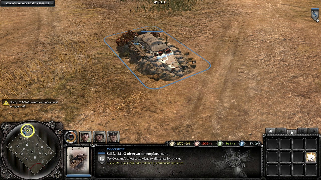 Company Of Heroes 2 Sdkfz 251 3 Observation Emplacement Youtube