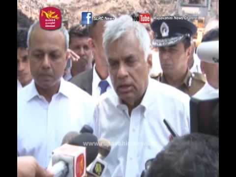 Prime Minister Ranil Wickramasinghe visits Meethotamulla disaster area
