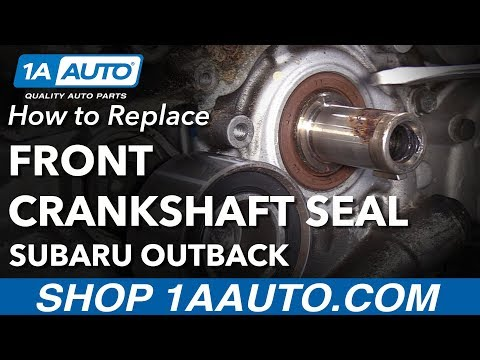 How to Replace Crankshaft Seal 04-09 Subaru Outback