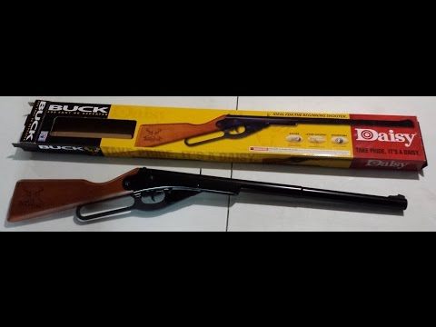 Daisy Buck Rifle BB Gun unboxing with Red Ryder Size Comparison