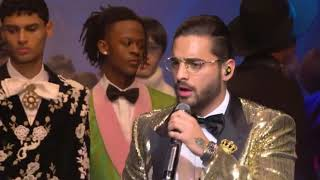 Maluma - Corazon y Felices los 4 en el Dolce & Gabanna Fall Winter 2018-2019 Men's Fashion Show