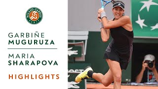 Garbine Muguruza vs Maria Sharapova - Quarter-Final Highlights I Roland-Garros 2018