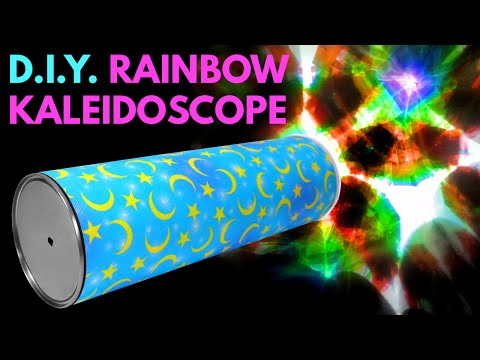 DIY Rainbow Kaleidoscope - Handmade Toys From Recycled Mater