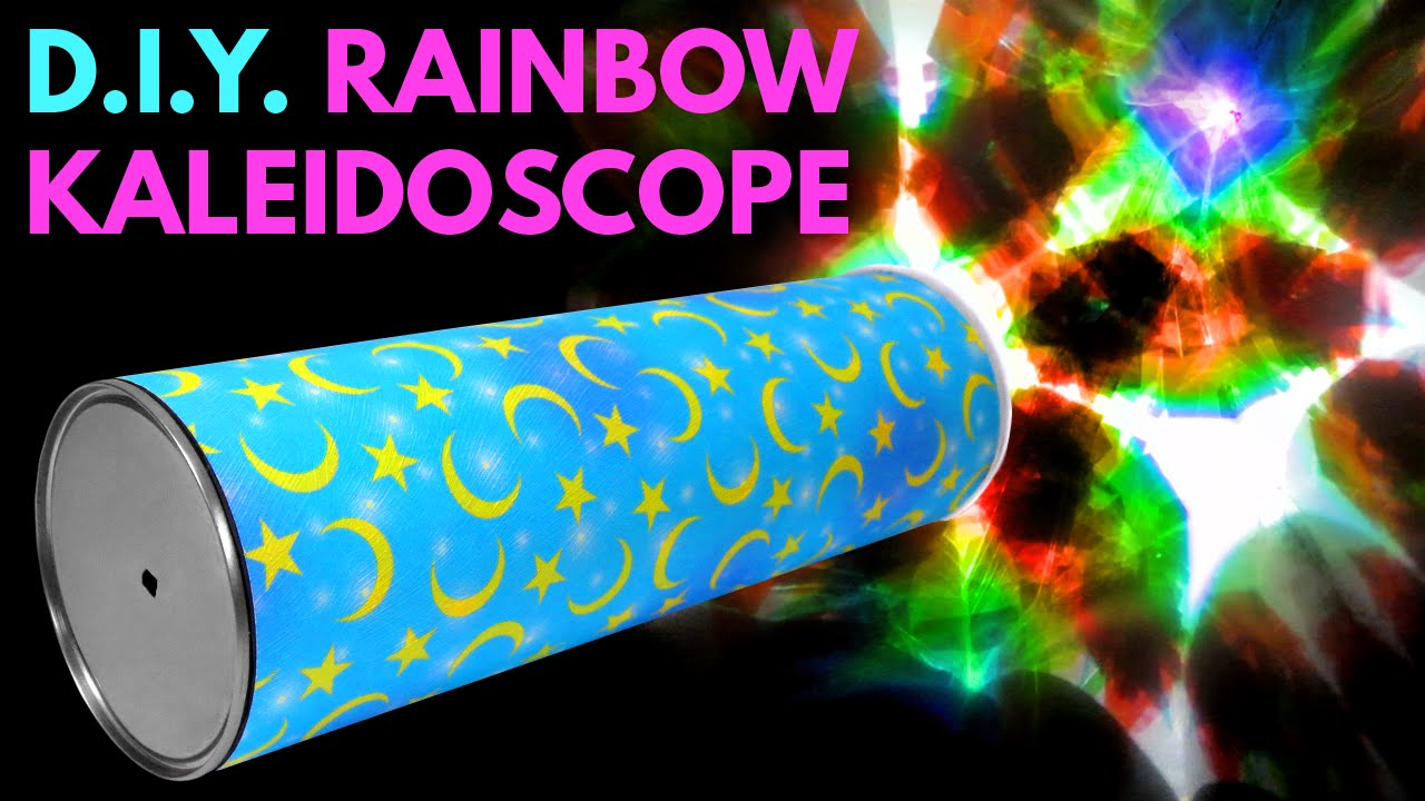 diy rainbow kaleidoscope handmade toys from recycled materials
