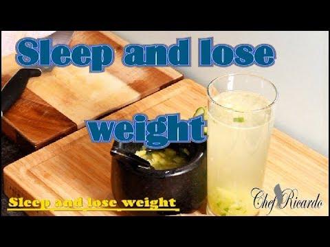 Sleep and lose weight cucumber lemon ginger celery apple cider vinegar