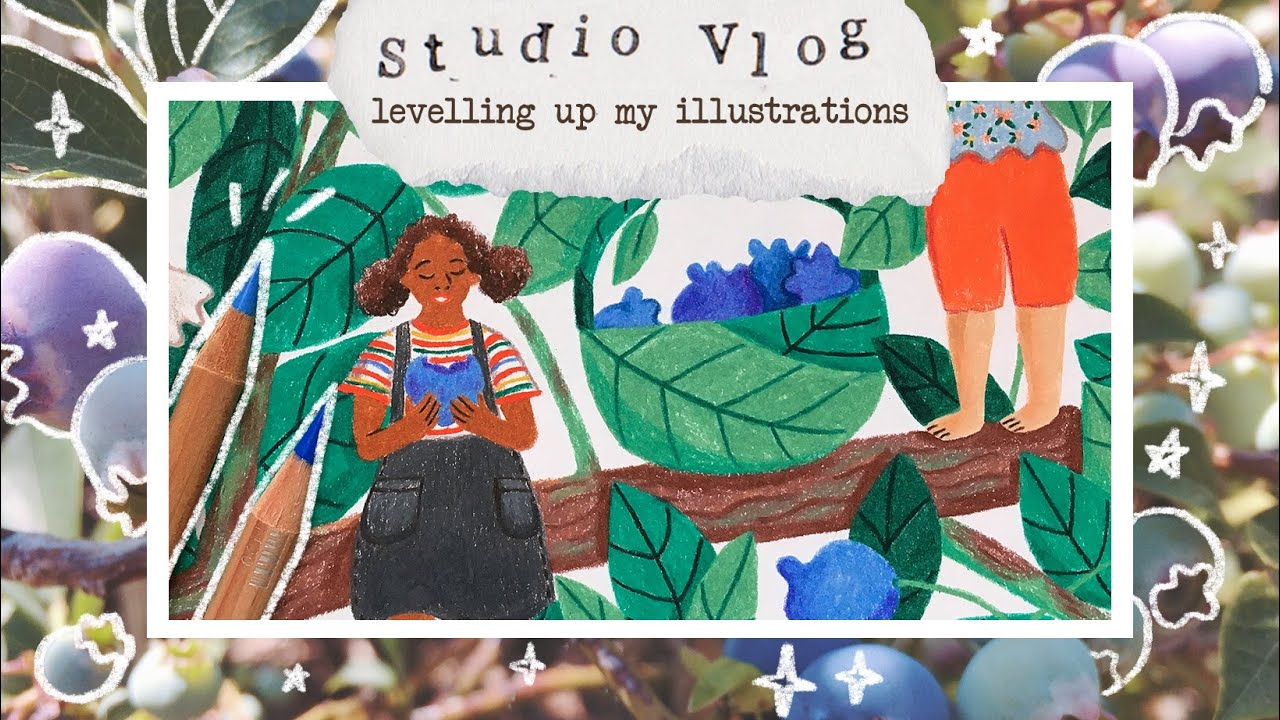 Studio Vlog 025 | drawing a whimsical scene + improving my pencil illustrations