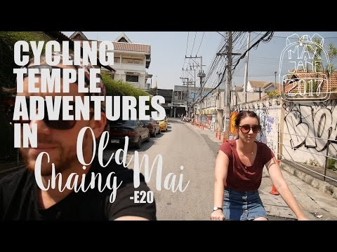 Chiang Mai, Thailand | Self guided bike tour of Old Chiang Mai! | South East Asia Travel Vlog E20