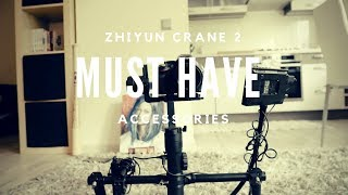 3 MUST HAVE ACCESSORIES for Zhiyun Crane 2 | By Gundars Magone