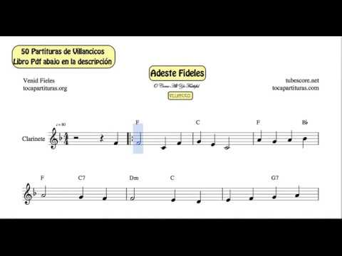 50 Christmas Carol Video Sheet Music for Clarinet PDF book with Piano and Guitar Chords