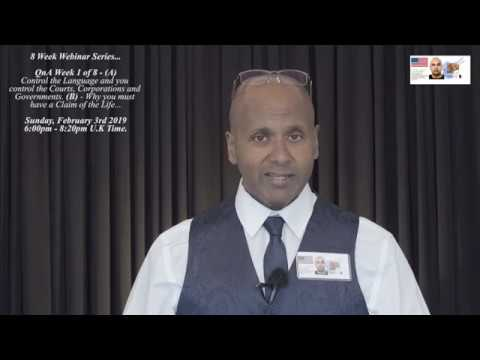 Q&A - Control The Language & You Control The Courts! - Why You Must Have A Claim Of The Life!