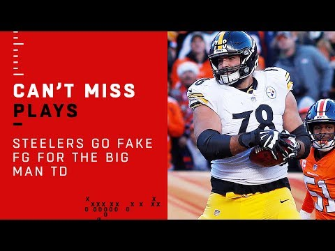 Steelers Go Fake FG for the BIG MAN TD!!!