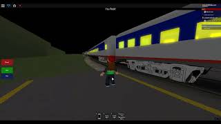 ROBLOX Amtrak Pop'n Music Train leaving Fuller Station in a right time.