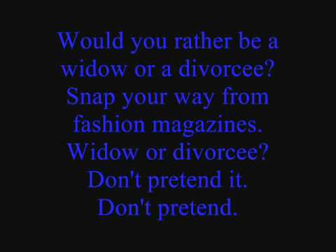 Would You Rather Be A Widow Or A Divorcee