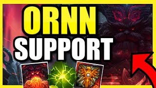 (IS THIS THE NEW LEONA?) ORNN SUPPORT IS 100% BUSTED IN ANY ELO!  THE BEST HARD ENGAGE CHAMP IN S10