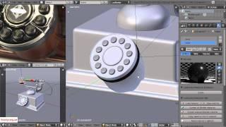 Видеоурок по Blender 2.5. Моделлинг телефона. Часть 2.
