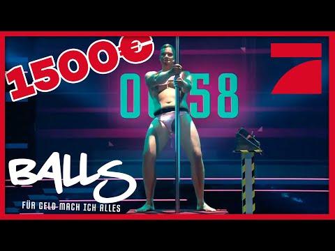 Tanzen Im Bikini An Der Poledance-Stange Unter Strom | Balls – Für Geld Mach Ich Alles | ProSieben