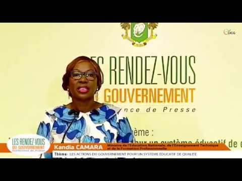 Education / Kandia Camara Explique Les Actions Du Gouvernement Pour Un Système éducatif De Qualité