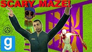 HIDING FROM SCPS IN MAZE! (Garry's mod Sandbox)