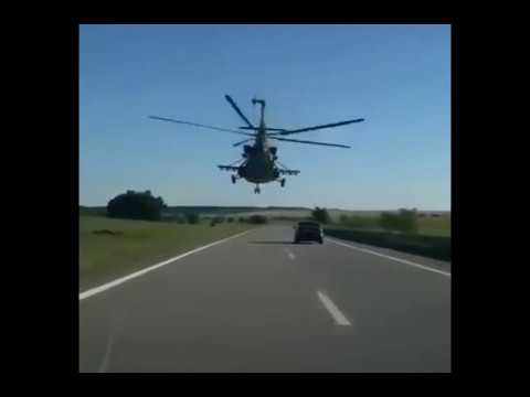 Crazy russian helicopter pilot