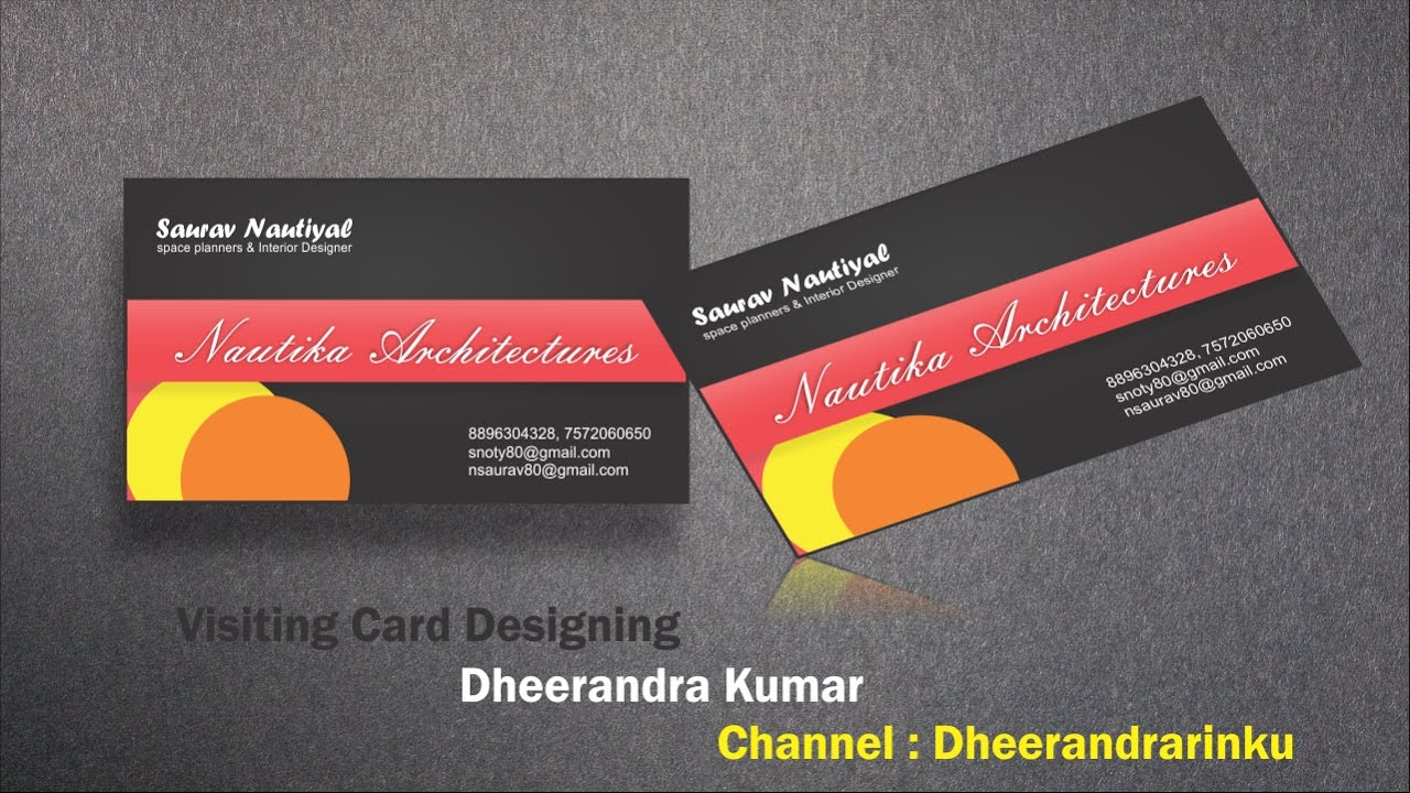 How to Design Interior Designer Visiting Card CorelDraw in Hindi ...