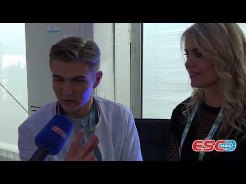 Ari Ólafsson (Iceland) - interview Eurovision Lisbon 2018   ESC Radio