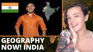 Geography Now! India | REACTION! | Indi Rossi