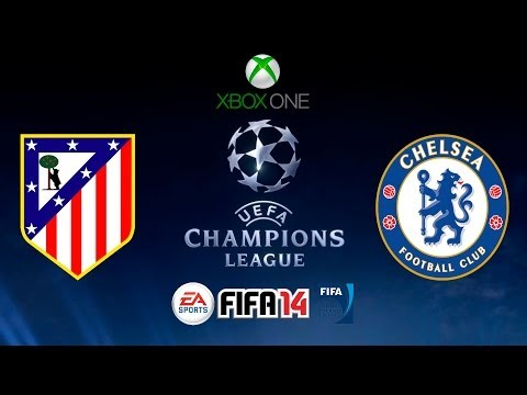FIFA 14 - CHAMPIONS LEAGUE - ATLETICO DE MADRID vs CHELSEA - XBOX ONE - GAMEPLAY - HD