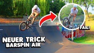 ENDLICH neuer TRICK mit BMX 😱 (Barspin Air)