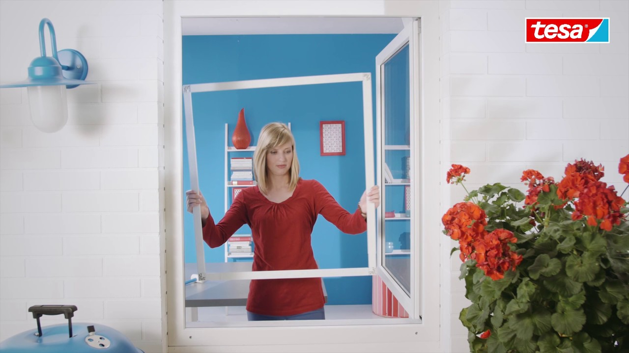 tesa insect stop teleskop fliegengitter mit rahmen. Black Bedroom Furniture Sets. Home Design Ideas