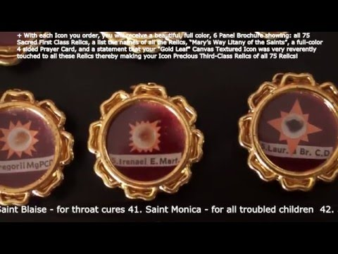 Marys Way HD 75 most Sacred First-Class Relics from the Official Depository of Relics in Rome