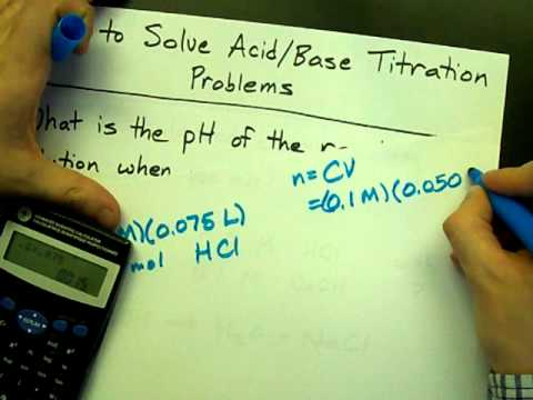 solving titration problems