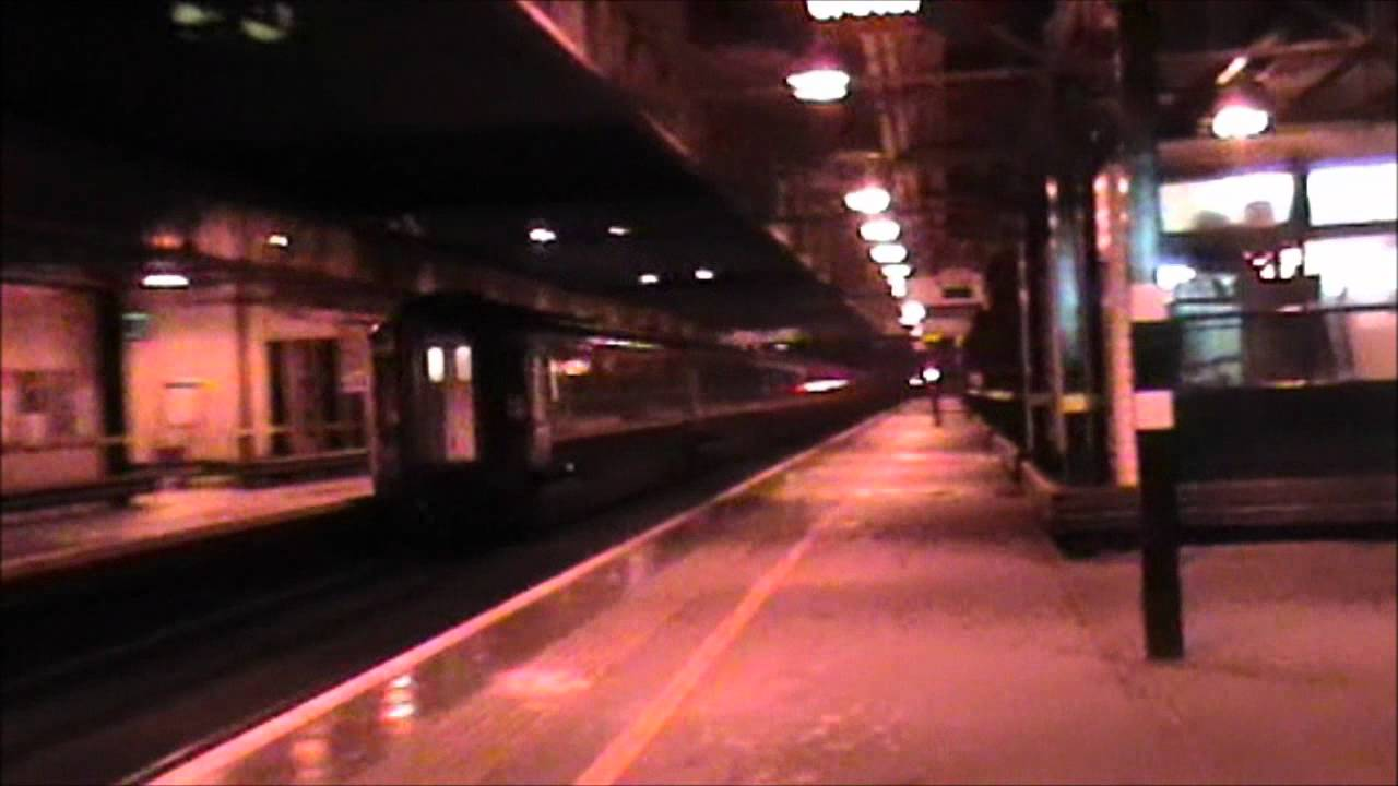 First Scotrail Caledonian Sleeper Passing Milton Keynes Central 28 01 12