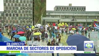 En Bogotá se lleva a cabo la marcha de los sectores de oposición