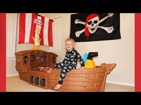Michael's New Pirate Ship Bed!!!