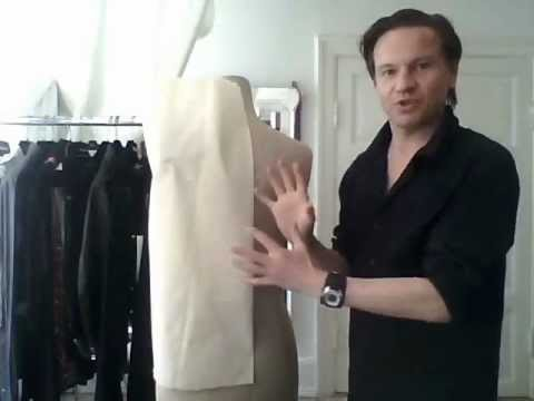 3. How to drape a basic ladies' jacket, the body - by bespoke tailor Sten Martin