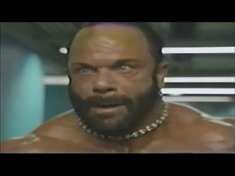 Macho Man Randy Savage massively jacked & pissed off
