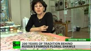 Rassian wool shawls from Pavlovo Posad manufacture(, 2013-05-10T20:44:38.000Z)