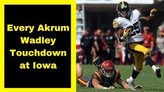 Video Every Akrum Wadley Touchdown at Iowa download MP3, 3GP, MP4, WEBM, AVI, FLV September 2018