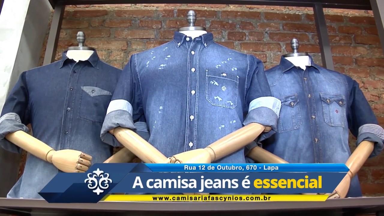 0e0ac7058a Coleção Camisas Jeans Camisaria Fascynios - YouTube