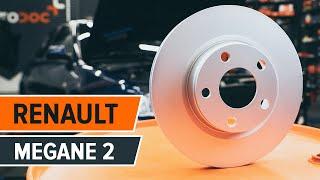 Hvordan man skifter bremseskiver foran, bremseklodser foran RENAULT MEGANE 2 Vejledning | Autodoc