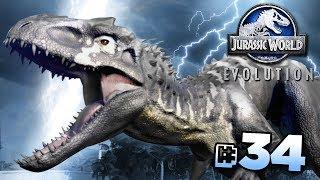 AN IMPROVED INDOMINUS REX!!! - Jurassic World Evolution FULL PLAYTHROUGH   Ep34 HD