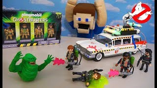 The GHOSTBUSTERS 2 Playmobil ECTO 1A Playset Gets SLIMED!!