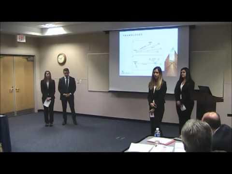 IANA 2017 Logistics & Supply Chain Management Case Competition - University of North Florida