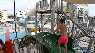 Free Fall Water Slide at Anastasia Aquamania Waterpark