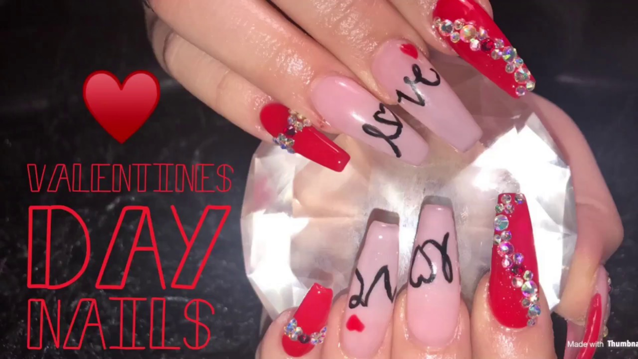 Valentine S Day Nails Youtube