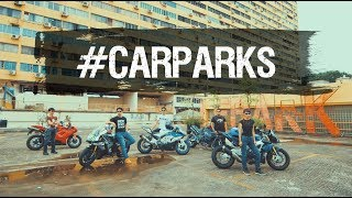 Big bikes in the spotlight at these stunning #carparks