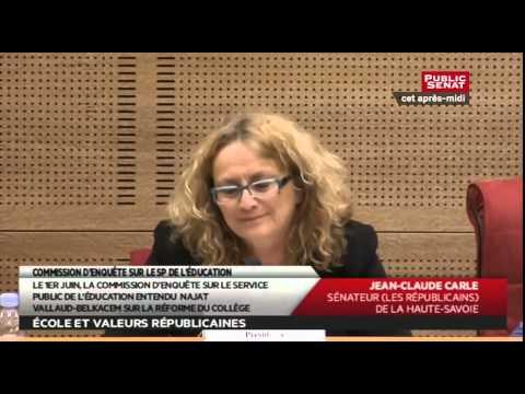 Audition - de Najat Vallaud-Belkacem sur le Service public de l'éducation