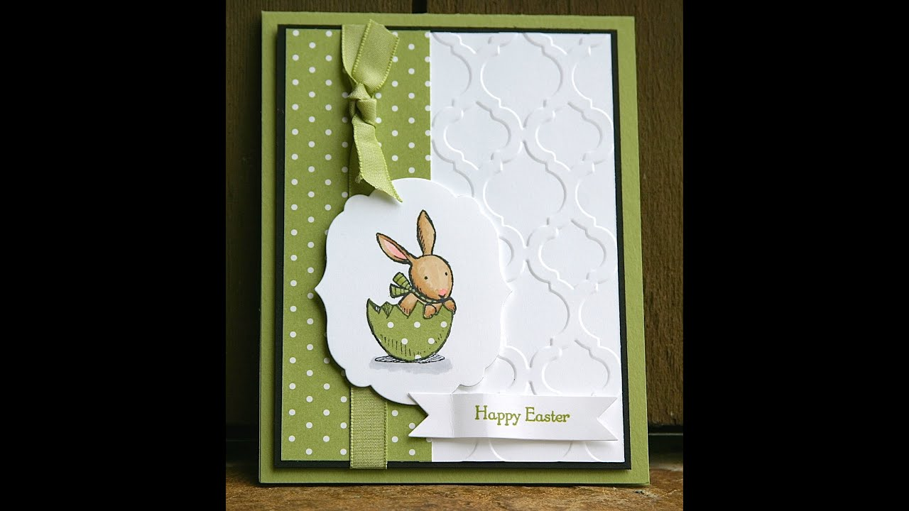 Ideas For Making Easter Cards Part - 42: Stampinu0027 Up Easter Card Using Everybunny - YouTube