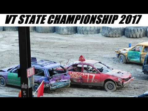 2017 VT State Championship Demolition Derby 9-9-2017 (FULL SHOW)